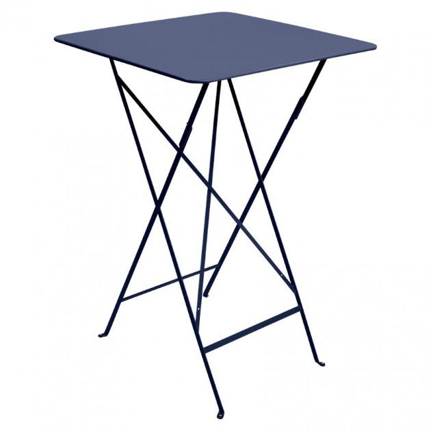 На фото: Барний стіл Bistro 0250 Deep Blue (025092), Барний стіл Bistro Fermob, каталог, ціна
