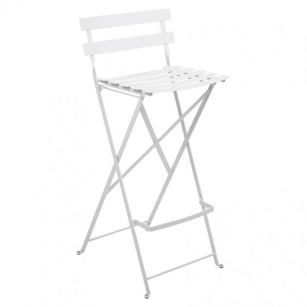 На фото: Барний стілець Bistro Cotton White (511301), Барний стілець Bistro Fermob, каталог, ціна