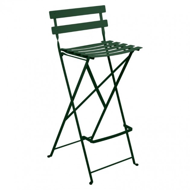 На фото: Барний стілець Bistro Cedar Green (511302), Барні стільці Fermob, каталог, ціна