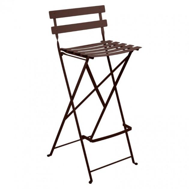 На фото: Барний стілець Bistro Russet (511309), Барний стілець Bistro Fermob, каталог, ціна