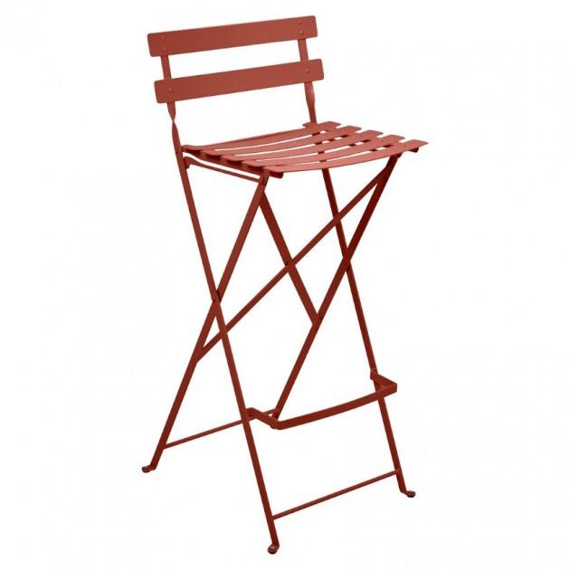 На фото: Барний стілець Bistro Red Ochre (511320), Барні стільці Fermob, каталог, ціна