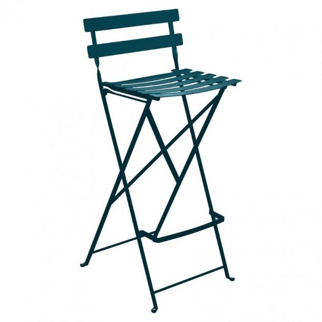 На фото: Барний стілець Bistro Acapulco Blue (511321), Барний стілець Bistro Fermob, каталог, ціна