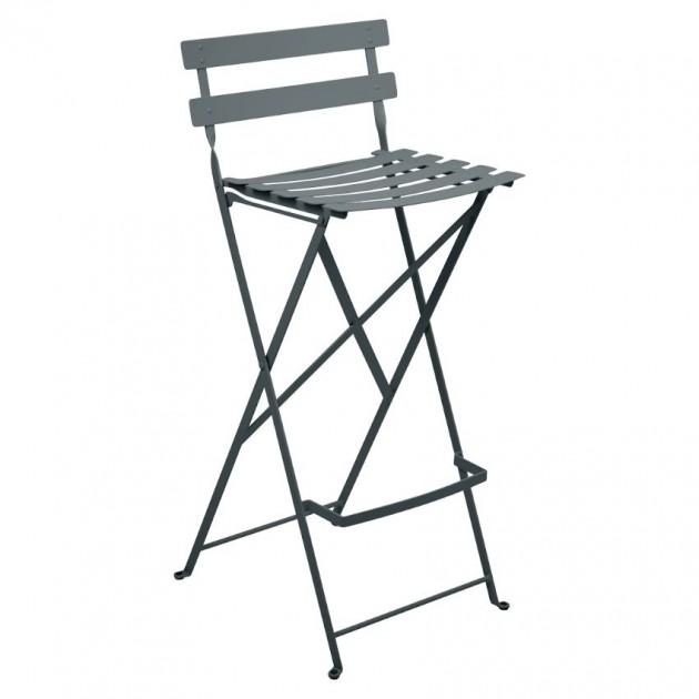 На фото: Барний стілець Bistro Storm Grey (511326), Барний стілець Bistro Fermob, каталог, ціна