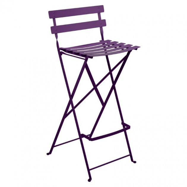 На фото: Барний стілець Bistro Aubergine (511328), Барні стільці Fermob, каталог, ціна