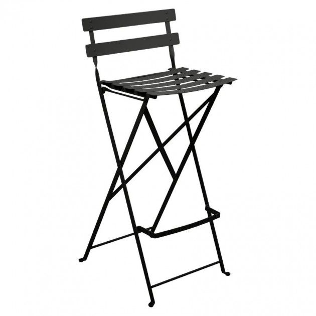 На фото: Барний стілець Bistro Liquorice (511342), Барний стілець Bistro Fermob, каталог, ціна