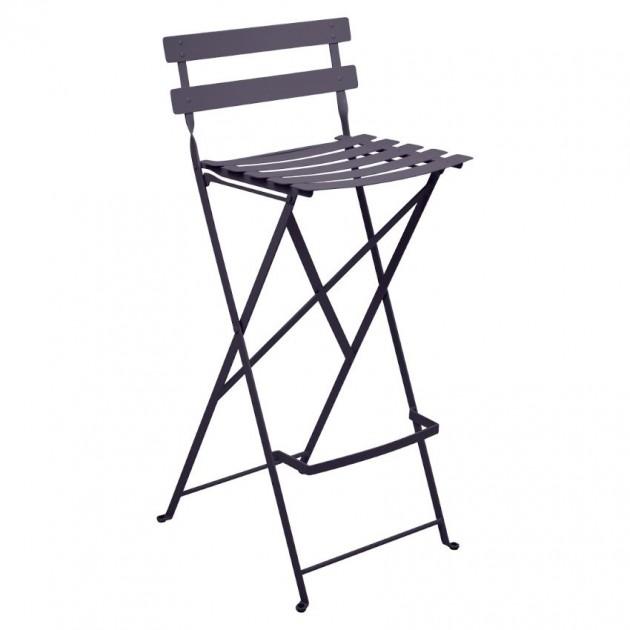 На фото: Барний стілець Bistro Plum (511344), Барний стілець Bistro Fermob, каталог, ціна