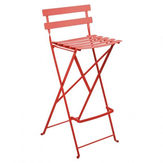 На фото: Барний стілець Bistro Capucine (511345), Барний стілець Bistro Fermob, каталог, ціна