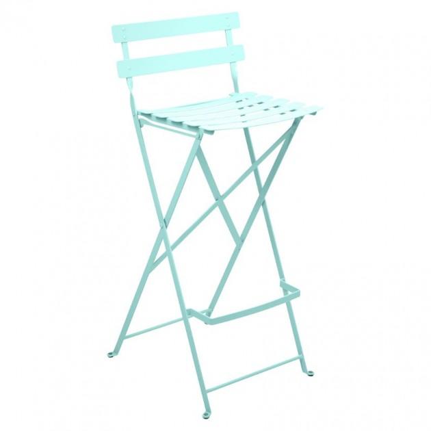 На фото: Барний стілець Bistro Lagoon Blue (511346), Барний стілець Bistro Fermob, каталог, ціна