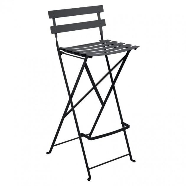 На фото: Барний стілець Bistro Anthracite (511347), Барний стілець Bistro Fermob, каталог, ціна