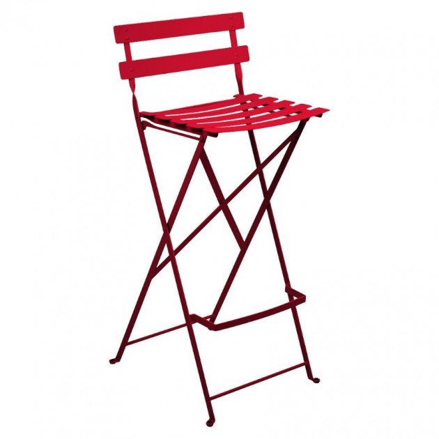 На фото: Барний стілець Bistro Poppy (511367), Барний стілець Bistro Fermob, каталог, ціна