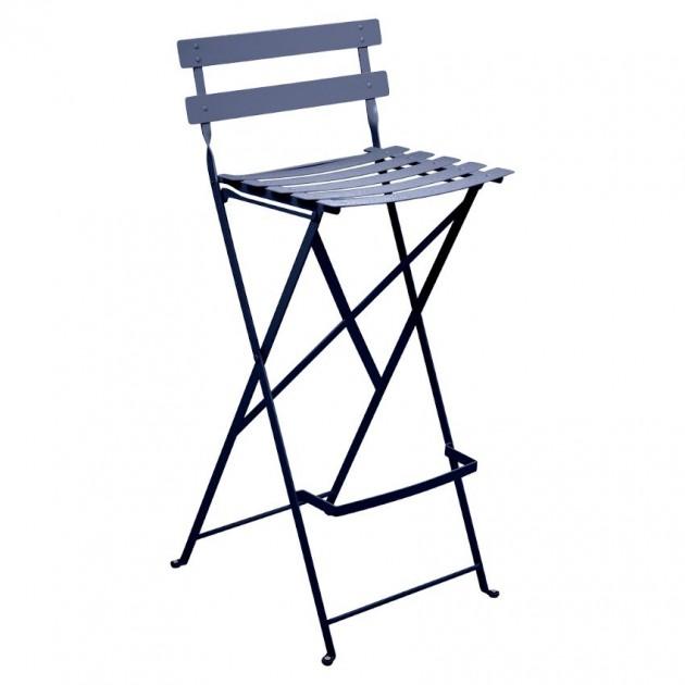 На фото: Барний стілець Bistro Deep Blue (511392), Барний стілець Bistro Fermob, каталог, ціна