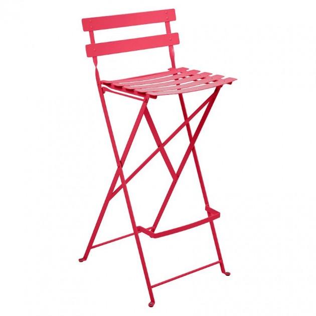 На фото: Барний стілець Bistro Pink Praline (511393), Барні стільці Fermob, каталог, ціна