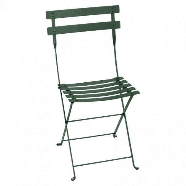 На фото: Cкладаний стілець Bistro Cedar Green (010102), Стілець Bistro Metal Fermob, каталог, ціна