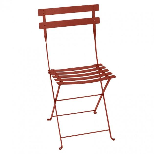 На фото: Cкладаний стілець Bistro Red Ochre (010120), Стілець Bistro Metal Fermob, каталог, ціна