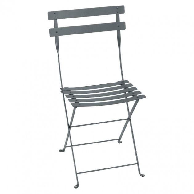 На фото: Cкладаний стілець Bistro Storm Grey (010126), Стілець Bistro Metal Fermob, каталог, ціна