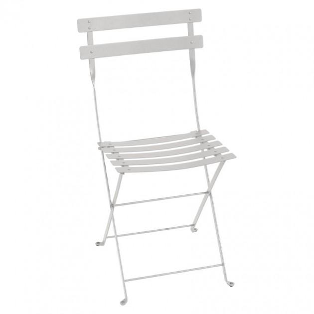 На фото: Cкладаний стілець Bistro Steel Grey (010138), Стілець Bistro Metal Fermob, каталог, ціна