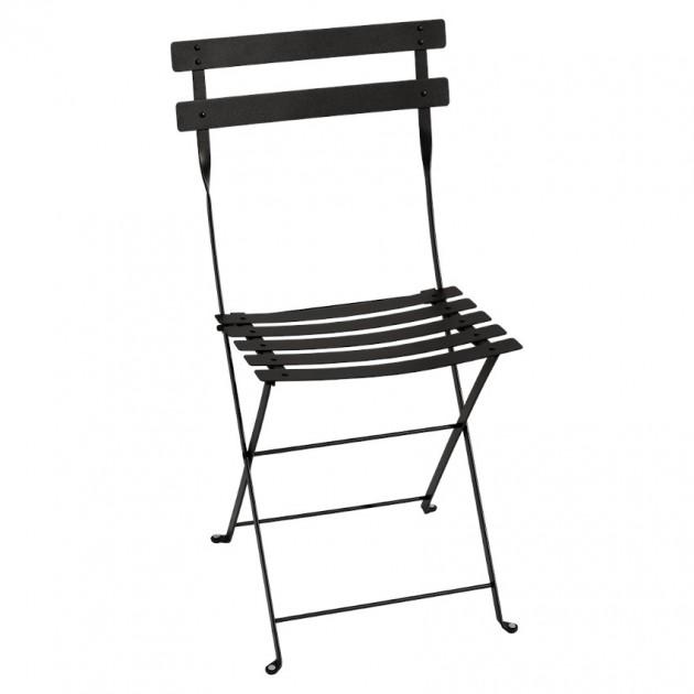 На фото: Cкладаний стілець Bistro Liquorice (010142), Стілець Bistro Metal Fermob, каталог, ціна