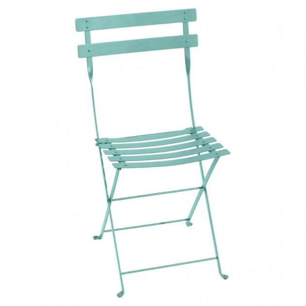 На фото: Cкладаний стілець Bistro Lagoon Blue (010146), Стілець Bistro Metal Fermob, каталог, ціна