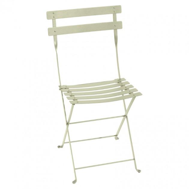 На фото: Cкладаний стілець Bistro Willow Green (010165), Стілець Bistro Metal Fermob, каталог, ціна