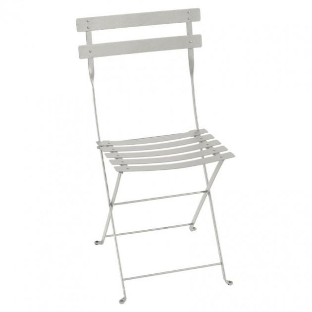На фото: Cкладаний стілець Bistro Clay Grey (0101a5), Стілець Bistro Metal Fermob, каталог, ціна