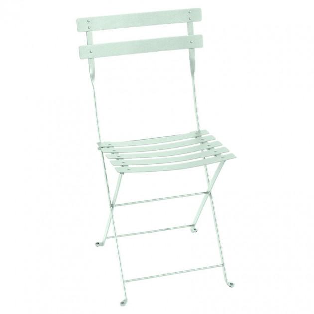 На фото: Cкладаний стілець Bistro Ice Mint (0101a7), Стілець Bistro Metal Fermob, каталог, ціна