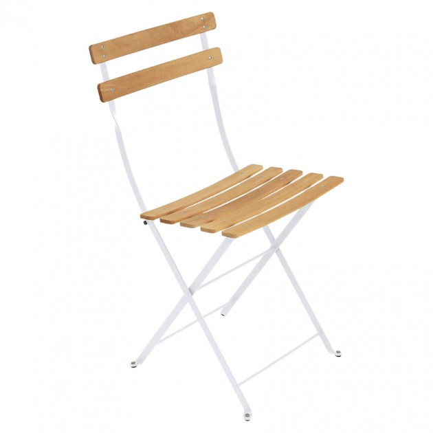 На фото: Cкладаний стілець Bistro Natural (510701), Стілець Bistro Naturel Fermob, каталог, ціна