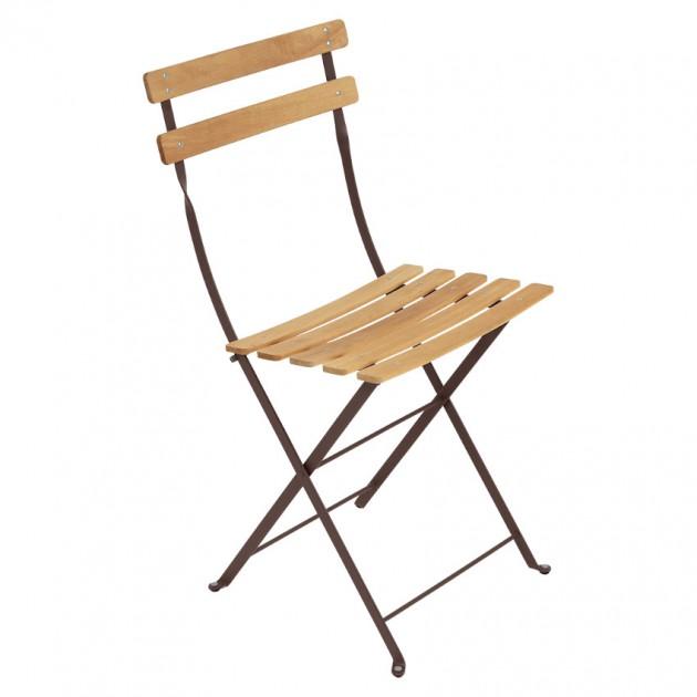 На фото: Cкладаний стілець Bistro Natural (510709), Стілець Bistro Naturel Fermob, каталог, ціна