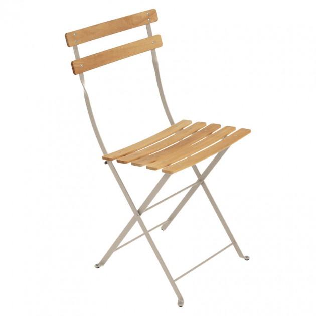 На фото: Cкладаний стілець Bistro Natural (510714), Стілець Bistro Naturel Fermob, каталог, ціна