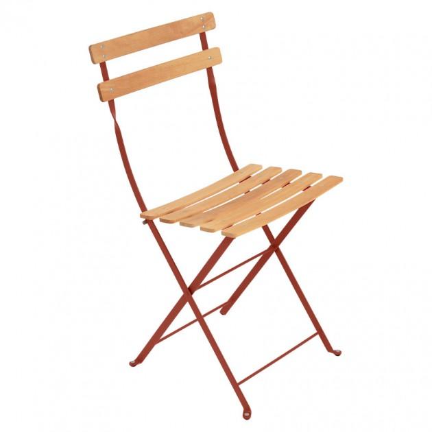 На фото: Cкладаний стілець Bistro Natural (510720), Стілець Bistro Naturel Fermob, каталог, ціна
