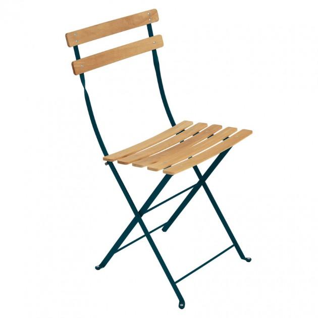 На фото: Cкладаний стілець Bistro Natural (510721), Стілець Bistro Naturel Fermob, каталог, ціна