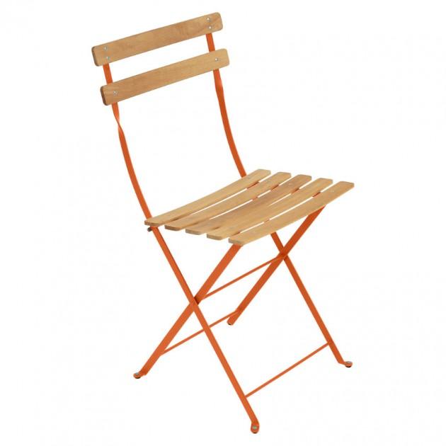 На фото: Cкладаний стілець Bistro Natural (510727), Стілець Bistro Naturel Fermob, каталог, ціна