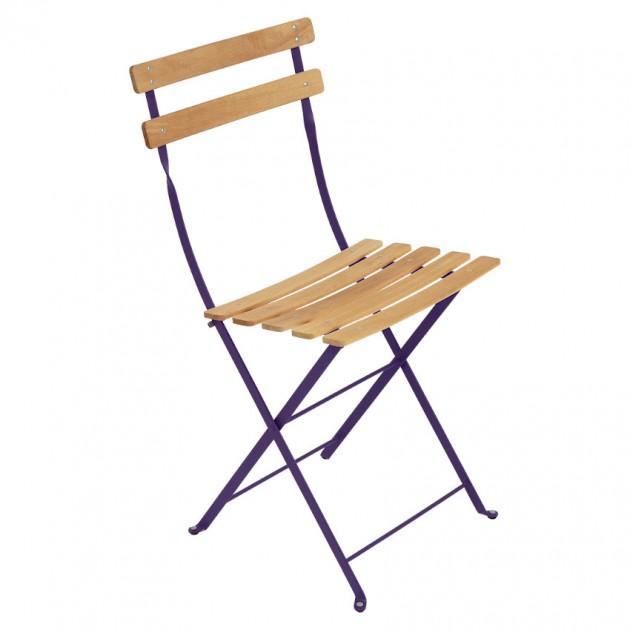 На фото: Cкладаний стілець Bistro Natural (510728), Стілець Bistro Naturel Fermob, каталог, ціна