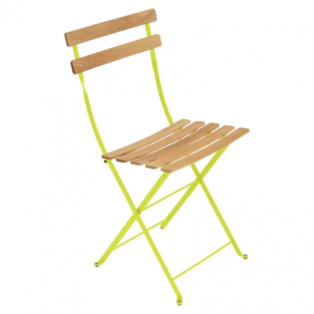 На фото: Cкладаний стілець Bistro Natural (510729), Стілець Bistro Naturel Fermob, каталог, ціна