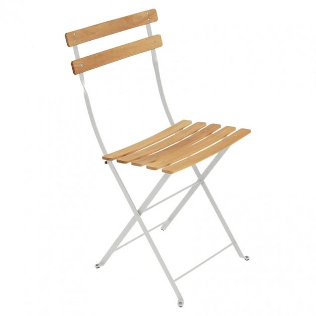 На фото: Cкладаний стілець Bistro Natural (510738), Стілець Bistro Naturel Fermob, каталог, ціна