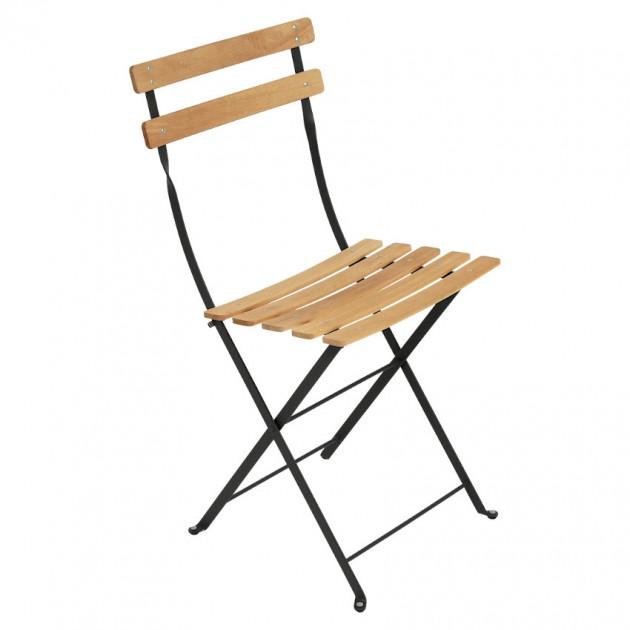 На фото: Cкладаний стілець Bistro Natural (510742), Стілець Bistro Naturel Fermob, каталог, ціна