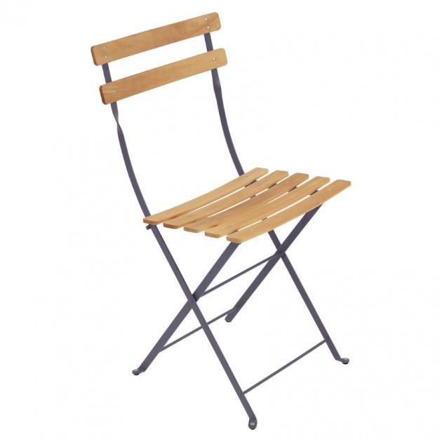 На фото: Cкладаний стілець Bistro Natural (510744), Стілець Bistro Naturel Fermob, каталог, ціна