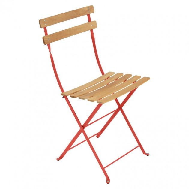 На фото: Cкладаний стілець Bistro Natural (510745), Стілець Bistro Naturel Fermob, каталог, ціна