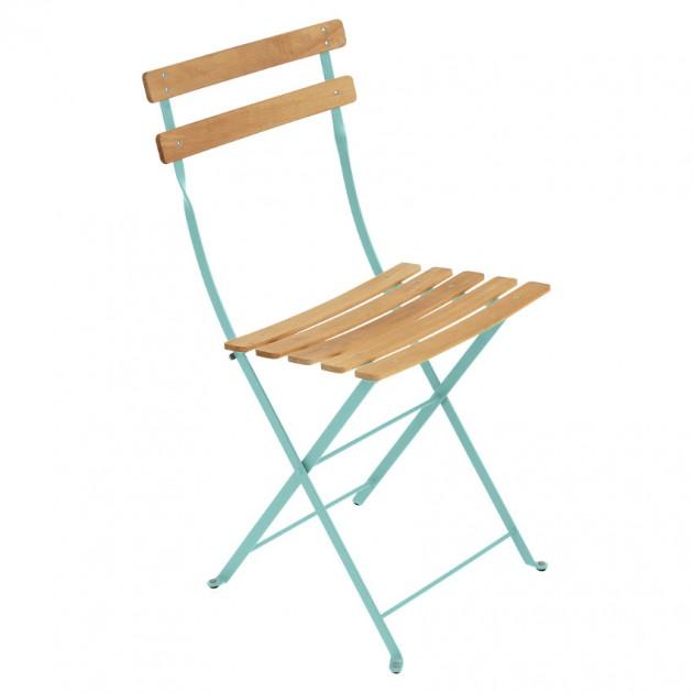 На фото: Cкладаний стілець Bistro Natural (510746), Стілець Bistro Naturel Fermob, каталог, ціна