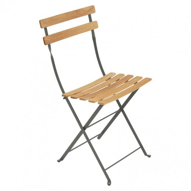 На фото: Cкладаний стілець Bistro Natural (510748), Стілець Bistro Naturel Fermob, каталог, ціна