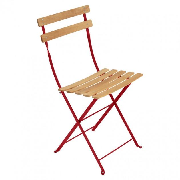 На фото: Cкладаний стілець Bistro Natural (510767), Стілець Bistro Naturel Fermob, каталог, ціна