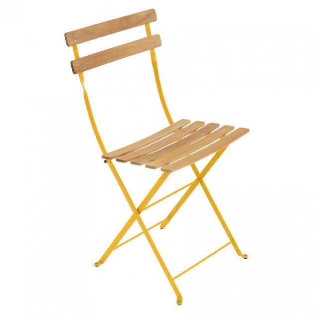 На фото: Cкладаний стілець Bistro Natural (510773), Стілець Bistro Naturel Fermob, каталог, ціна