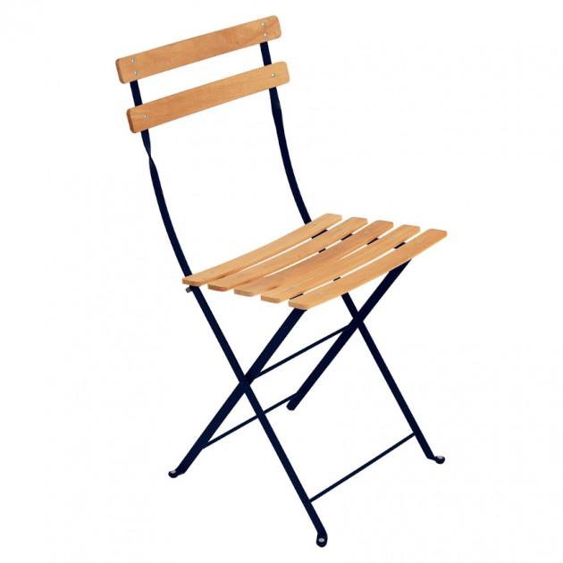 На фото: Cкладаний стілець Bistro Natural (510792), Стілець Bistro Naturel Fermob, каталог, ціна