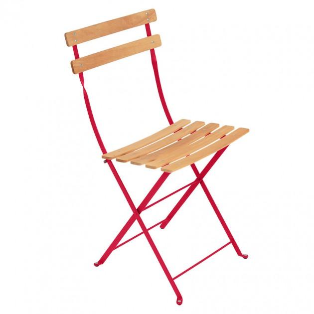 На фото: Cкладаний стілець Bistro Natural (510793), Стілець Bistro Naturel Fermob, каталог, ціна