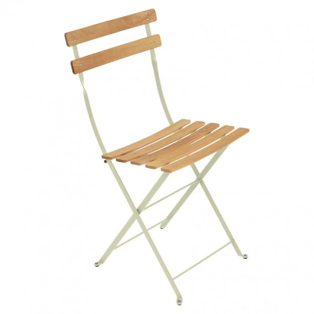 На фото: Cкладаний стілець Bistro Natural (510765), Стілець Bistro Naturel Fermob, каталог, ціна