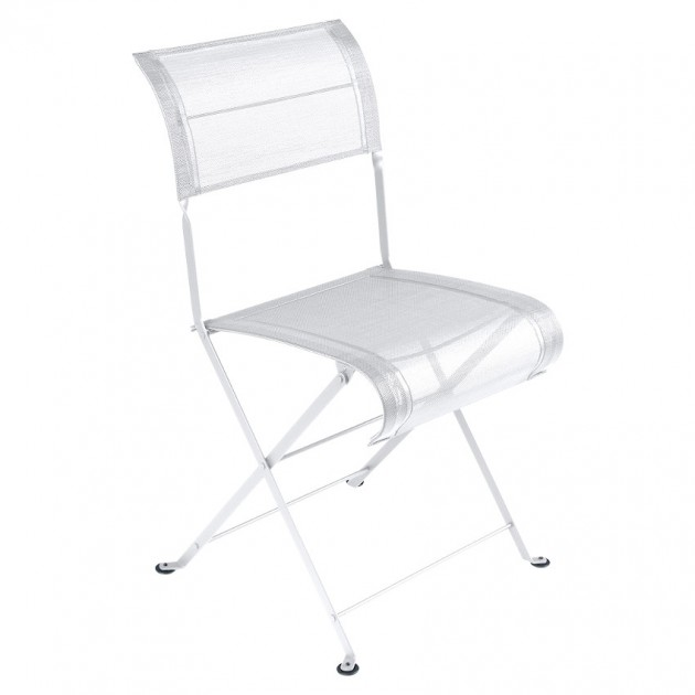 На фото: Складаний стілець Dune Cotton White (120101), Стілець Dune Fermob, каталог, ціна
