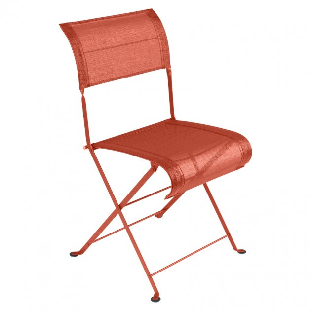 На фото: Складаний стілець Dune Paprika (120133), Стілець Dune Fermob, каталог, ціна