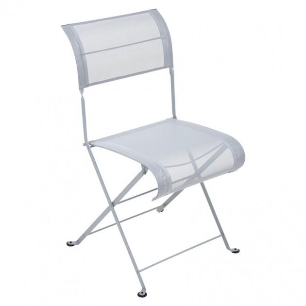 На фото: Складаний стілець Dune Steel Grey (120138), Стілець Dune Fermob, каталог, ціна