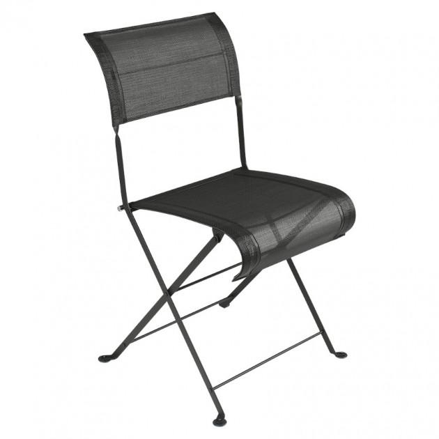На фото: Складаний стілець Dune Liquorice (120142), Стілець Dune Fermob, каталог, ціна