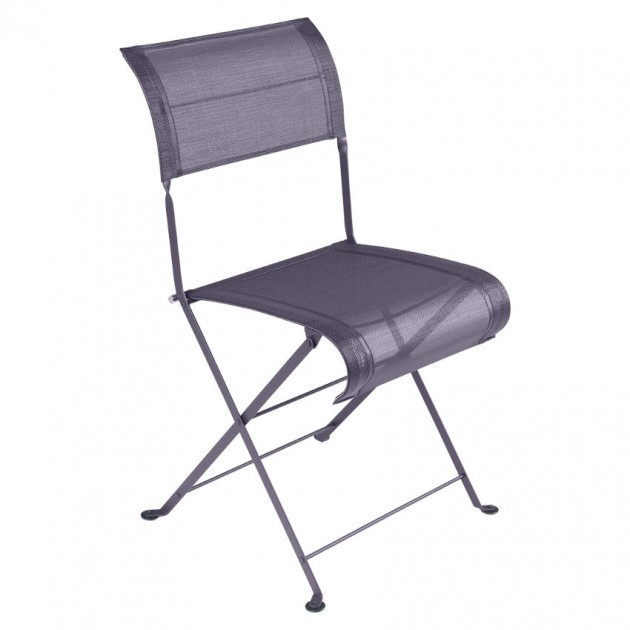 На фото: Складаний стілець Dune Plum (120144), Стілець Dune Fermob, каталог, ціна