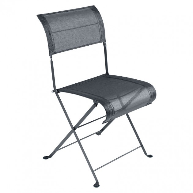 На фото: Складаний стілець Dune Anthracite (120147), Стілець Dune Fermob, каталог, ціна